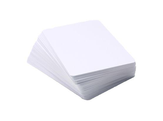 PVC Plastikkarten Blanko weiß  im EC-und Kreditkartenformat 54 x 86 mm