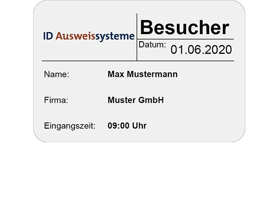 TimeControl Besucherbuch Badge Standard
